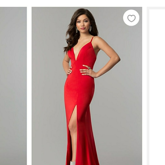 BRAND NEW  Jovani V-Neck Red Long Prom Dress 37c8e4e3b